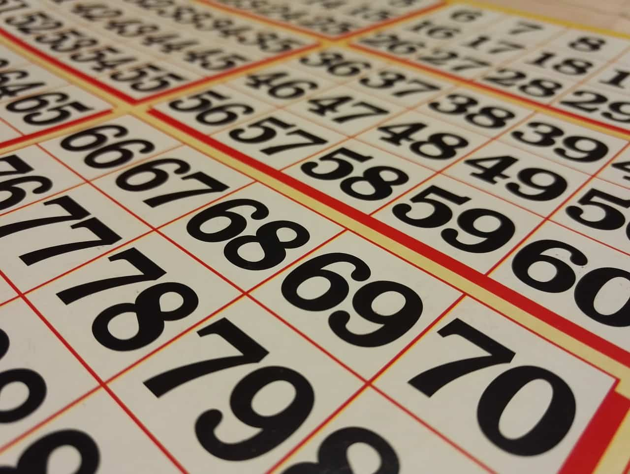 bingo ticket numbers